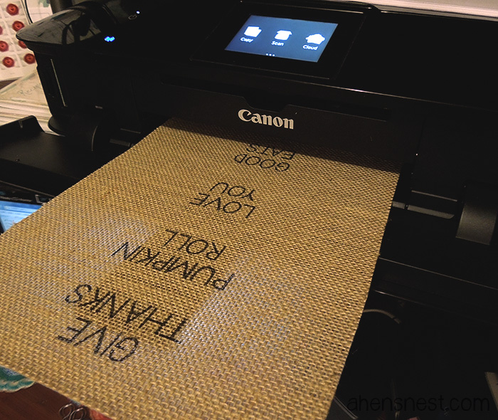 printing on burlap canon pixma mg7120