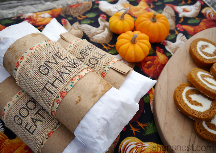 pumpkin roll gift giving