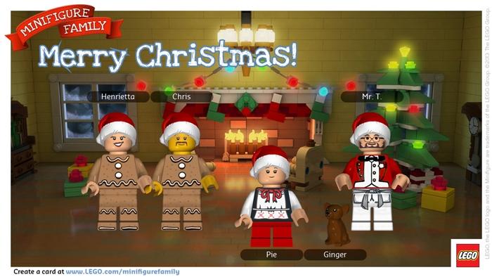 LEGO Minifigure Family card