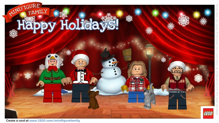LEGO Minifigure holiday digital postcard