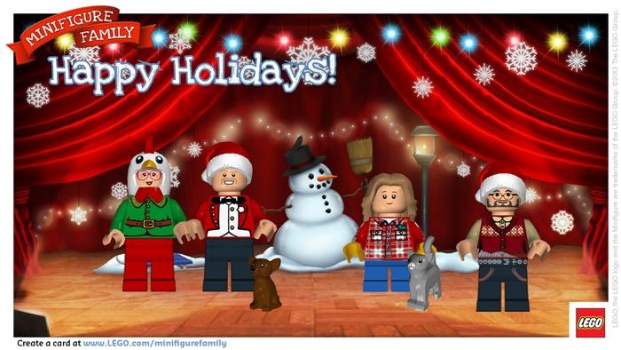 LEGO Minifigure holiday digital postcard