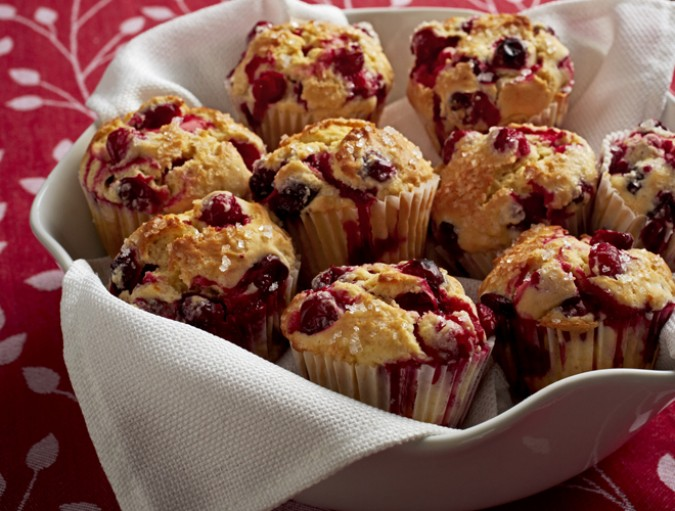 christmas cranberry muffins