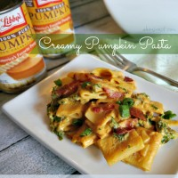 Creamy Pumpkin Pasta kale bacon Recipe