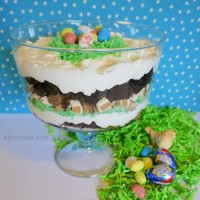 Spring Dessert Easter Candy Brownie Trifle