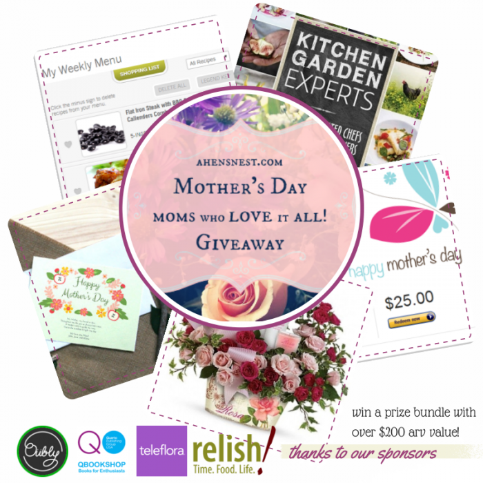 2014 Mother's Day Giveaway from ahensnest