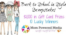 Back to School in Style Sweepstakes // Win 1 of 10 $100 Gift Cards!