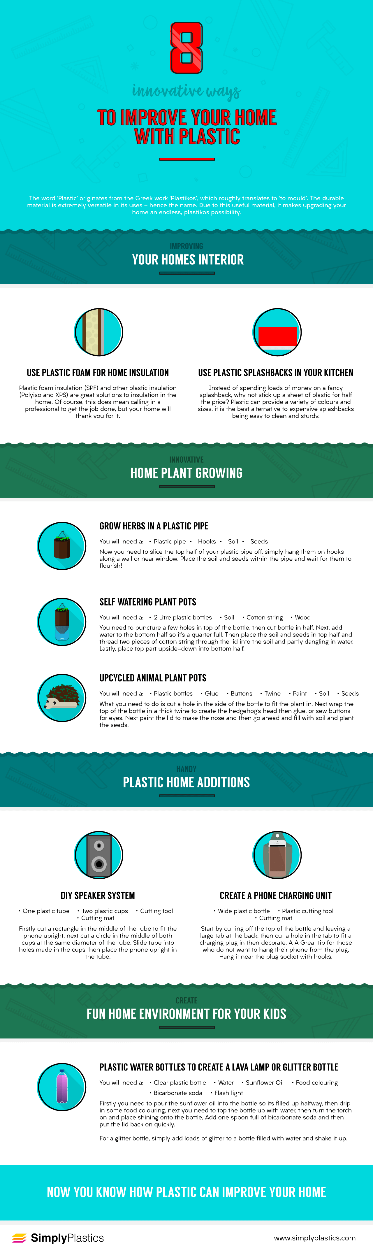 Innovative Ways to Improve Your Home With Plastic Infographic