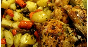 country baked chicken and veggies