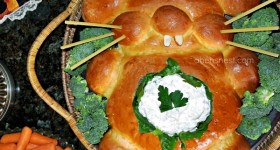 bunny bread bowl and dip