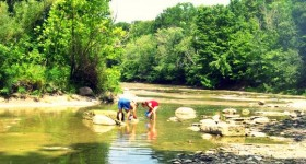 2010 playing in the creek