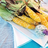 sweet corn grilled in the husk