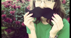 Pie with mustache Instagram