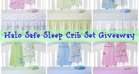 Halo Safe Sleep crib set giveaway