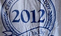 certified new dad tshirt