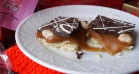Harvard Sweets Boutique caramel shortbread bars