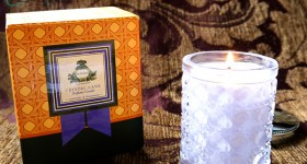 agraria woven crystal candle
