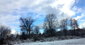 nov8 snow blue sky