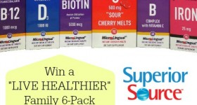 Win a LIVE HEALTHIER Family 6-Pack ($86 Value) of Superior Source Instant Dissolve Vitamins ‪#‎Giveaway‬ @ahensnest ‪#‎sponsored‬