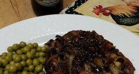 Hard Cider Glazed Pork Chops